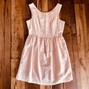 Forever 21 Floral Peach Dress